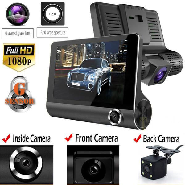 Ursprüngliches 4 '' Auto DVR Kamera Videorecorder Rückansicht Auto Registrator ith Zwei Kameras Dash Cam DVRS Doppellinse