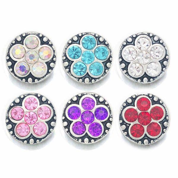 En gros 051 Fleur 3D 12mm En Métal Bouton pression Pour Bracelet Collier Bijoux Interchangeables Femmes Accessoire Conclusions
