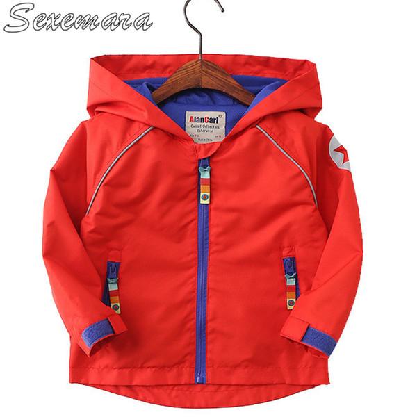 SexeMara crianças desgaste modelos outono jaqueta menino jaqueta à prova de vento de crianças pequenas com capuz