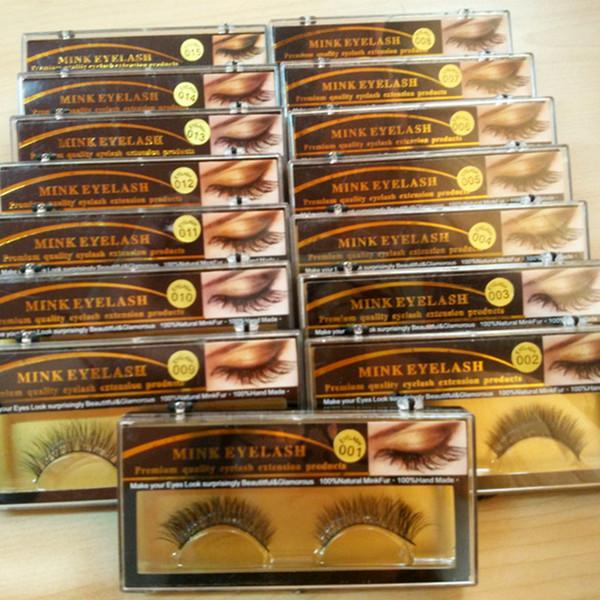 Visón 3D pestañas falsas largas gruesas pestañas de visón natural hecho a mano pestañas falsas maquillaje de ojos herramientas 1 par RRA944