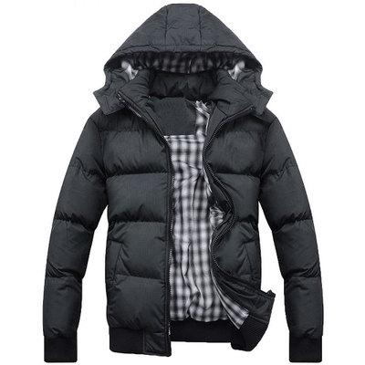 Winter Jacket Cotton-padded Hooded Men's jackets US size Men Hoodies Thick Warm Waterproof Windbreaker Anti Cold Jacket