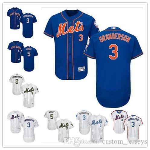 Özel Erkek kadın gençlik Majestic NY Mets Jersey # 3 Curtis Granderson 5 David Wright Ev Mavi Gri Beyaz Çocuk Kız Beyzbol Formalar