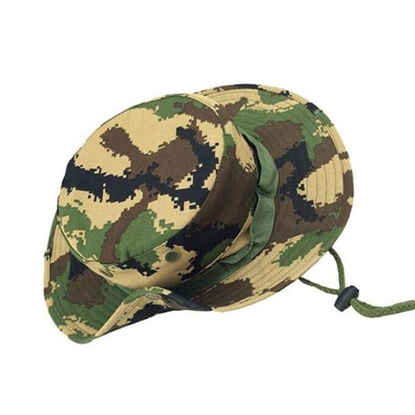 قبعة التمويه متعدد الألوان في الهواء الطلق قبعة صياد الغابة قبعة مستديرة لا يقتصر على الرجال والنساء يمكن تخصيص ..