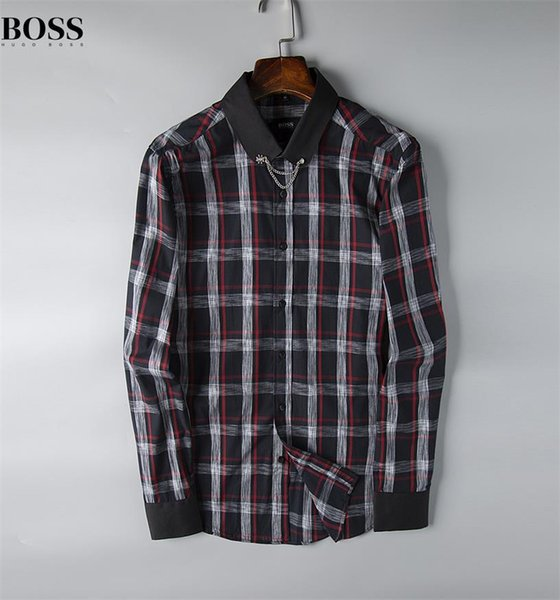 Camisa a cuadros de autocultivo de marca comercial estadounidense, camisa casual de algodón de manga larga de marca de diseñador de moda camisa de co-vestido a rayas t22