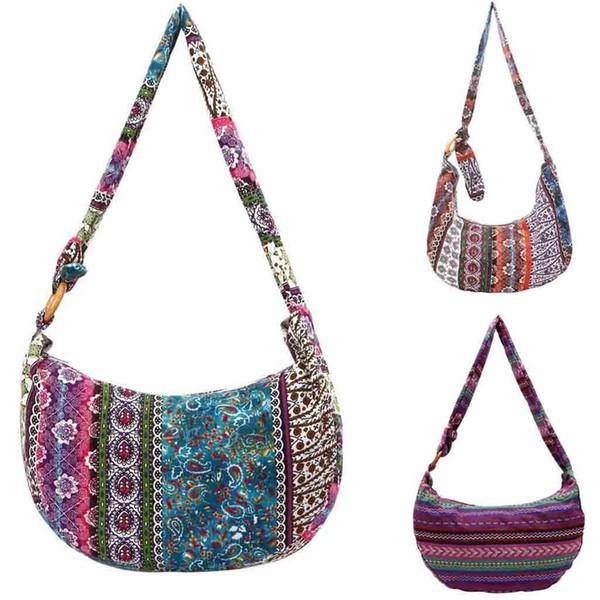 Ethnic Style Canvas Floral Folk-custom Women Cloth Bag For Ladies New Style Hand Bag Printing Crossbody Hot Sale 10 #173454