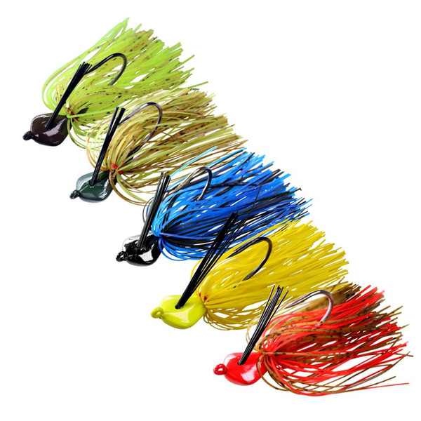 Lures Thkfish 19g Bass Fishing Jigs Mixed Color Rubber Skirt Lure Swim Buzz Metal Lead Jig Heads VMC Hooks Skirt Fishing
