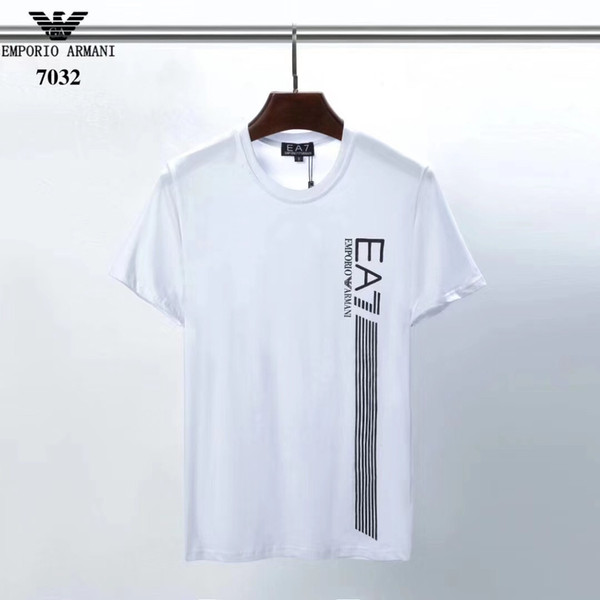 18ss 2019 fashion popular Little sloth Print t shirt men Comfortable white t-shirt men's short sleeve tshirt Top quality Cool pocket