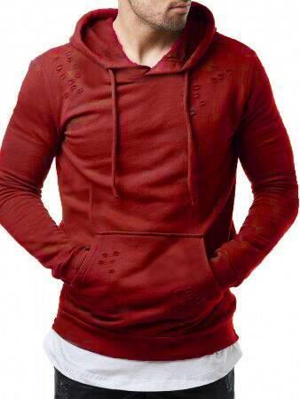 Hoodies rouges hommes