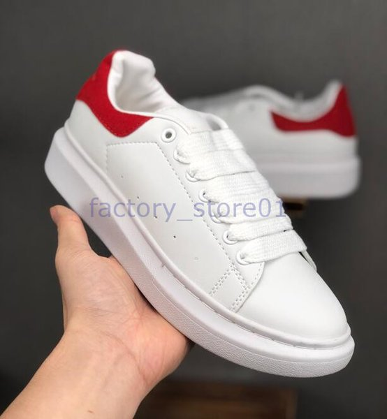Acheter 2019 Meilleur Designer Confort Jolies Femmes Baskets Casual Chaussures En Cuir Hommes Solides Femmes Plateforme Baskets Habillées Chaussure
