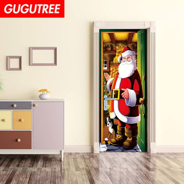 Decorate Home 3D merry christmas wall door sticker decoration Decals mural painting Removable Decor Wallpaper G-783