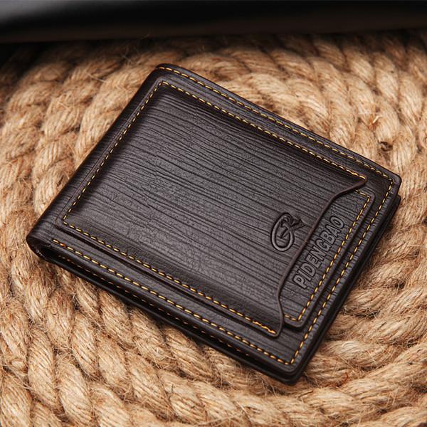 Exporter Vente Chaude Nouveau style Hommes Marque Designer en cuir luxe sac à main portefeuille courte croix haute qualité portefeuilles Cross Cross pour hommes livraison gratuite