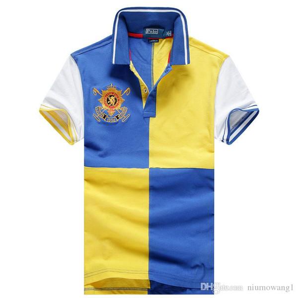 Der Art und Weisemarkendesigner der Sommer-Männer POLO Ralph T-Shirt Lauren-Hip-Hopqualitäts-große Parkmänner Polo-Hemdkurzschlusshülse Baumwollpolo-Hemden heiß