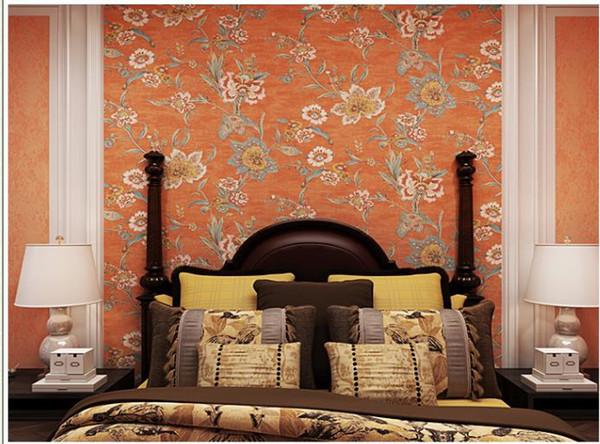 Orange 3d 10m duvarlar için büyük çiçek fotoğraf Romantik gül çiçek su geçirmez kat ev dekorasyonu salon duvar kağıdı kırmızı