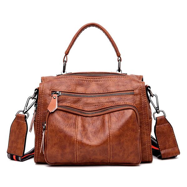 2019 Vintage Boston Fashion Handbag Crossbody Bags For Women Leather Handbags Shoulder Designer Luxury Bag Pochette Femme