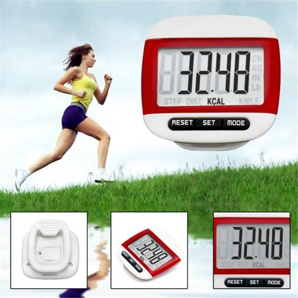 LCD Digital Step Pedometer Walking Calorie Counter Distance Run Belt Clip New Outdoor Sports Bicycle Cycling Accessories WS&40 #340322