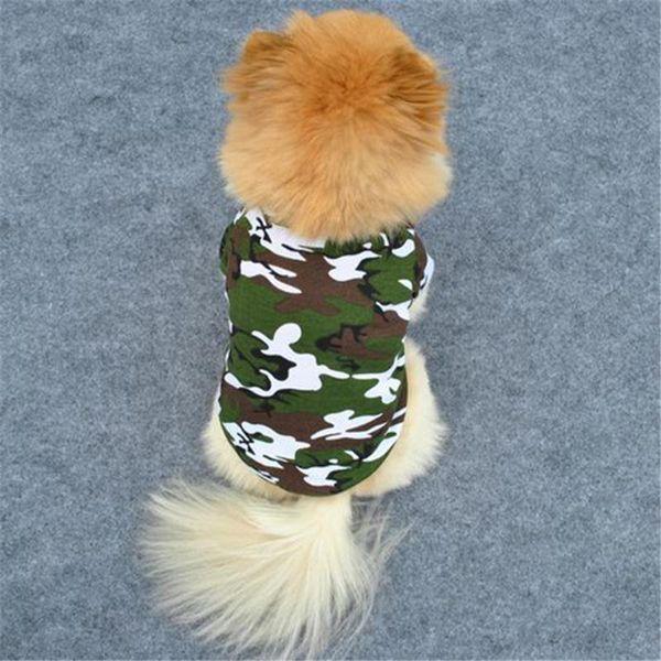 Pet Dog Cat Camo Clothes Hoody Coat Apparel Pup Doggy Camouflage T-shirt XS-L