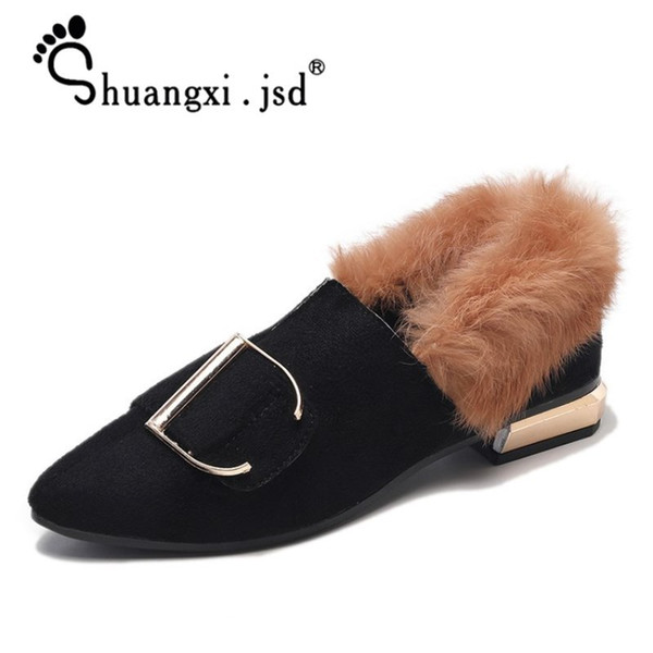 Designer Dress Shoes Ladies High Heels Female 2019 Women Rubber Shallow Mouth Suede Fashion High Quality Woman Pumps Zapatos mujer