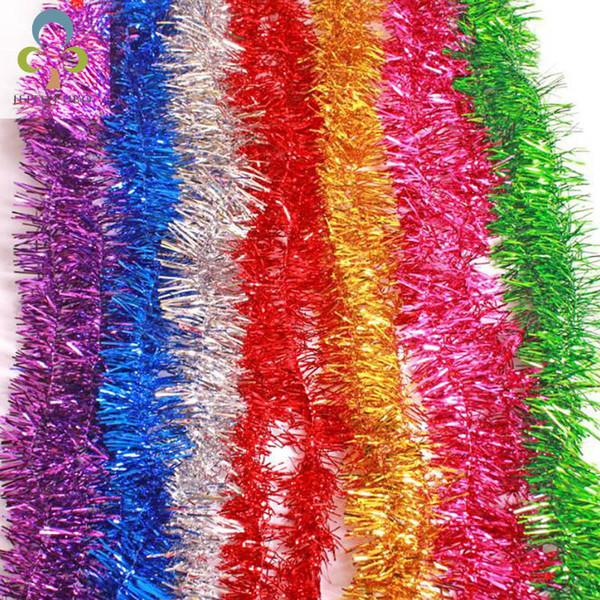 10Pcs/lot 2M Colorful Bar Christmas Tree Omament Garland Decoration Party Supplies Encryption Wedding Decorations Noel WYQ SH190916