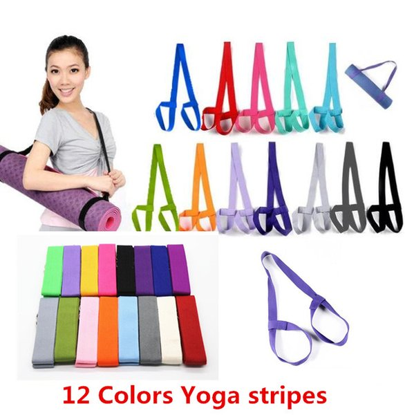 top popular Yoga Mat Sling Strap Elastic Pilates Adjustable Multifunctional Stretch Belts For Sports Fitness Gym Excerise Resistance Bands JS15 2019