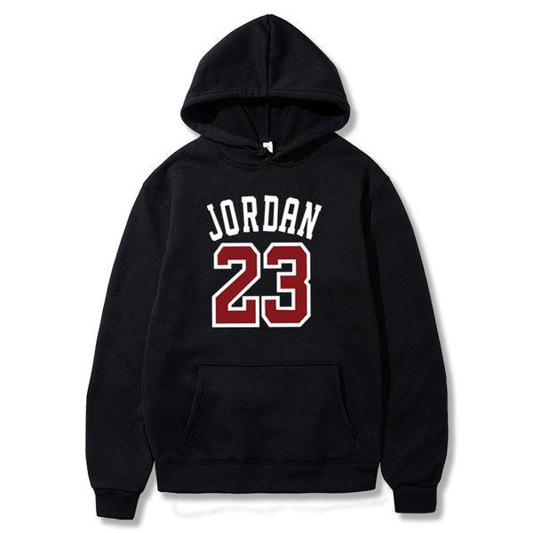 Otoño nueva de la llegada 23 Impreso de deporte Hombres camiseta de Hip Hop masculino con capucha sudaderas con capucha suéter Ropa