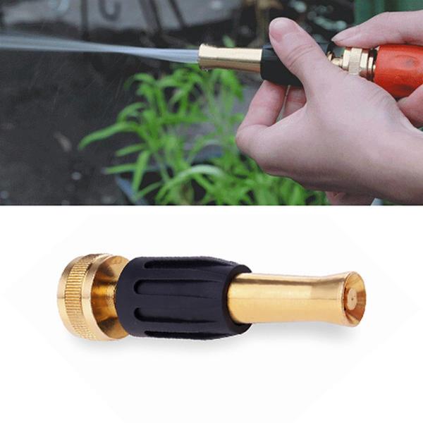 best selling Adjustable Brass Garden Hose Spray Nozzle With Zinc Adapter