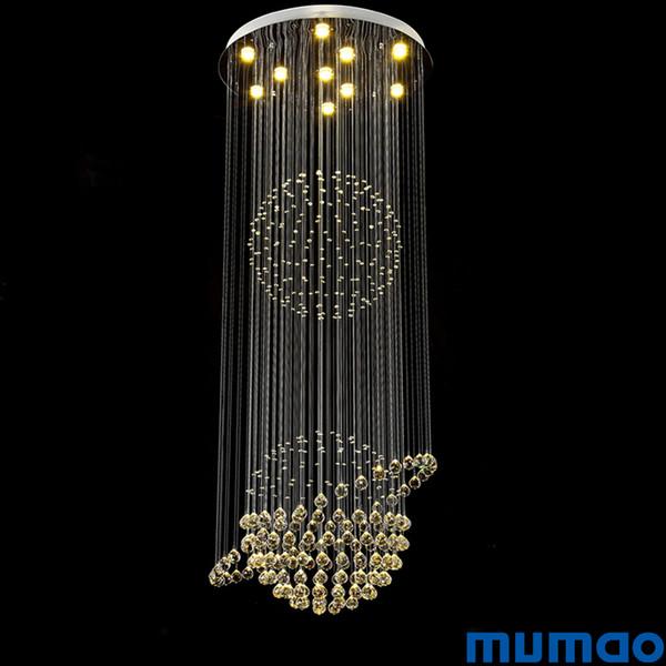 Led Kristall Kronleuchter Deckenpendelleuchten Lampen Runde Luminaria de Teto für Gang Treppe Flur Lichter Plafon Abajur Leuchten