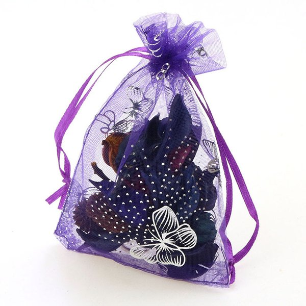 11x16 cm 100pcs Wedding Party Favor Gift Candy Sheer Bags Jewelry Pouch Purple Blue Pink Yellow Black With Drawstring