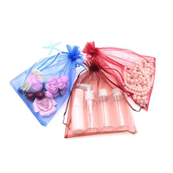 Großhandel! 17x23 cm 300 stücke GreenBlue etc. Schmuck Kleine Kordelzug Geschenk Organza Taschen Beutel für Weihnachten Verpackung und Süßigkeiten