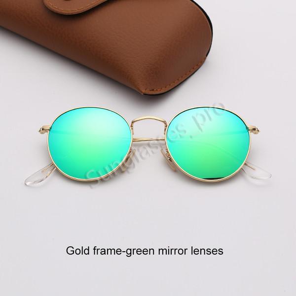 Золотая рамка-зеленый зеркало линзы