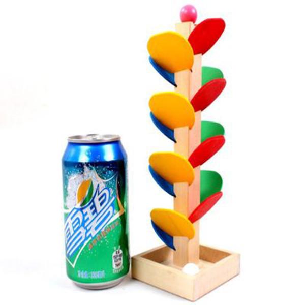 Giocattolo educativo di legno DIY Torre Albero gioco della palla giocattolo del bambino bambini Bambini Montessori precoce Marble Run Giocattoli Building Blocks 20pcs / set LA305