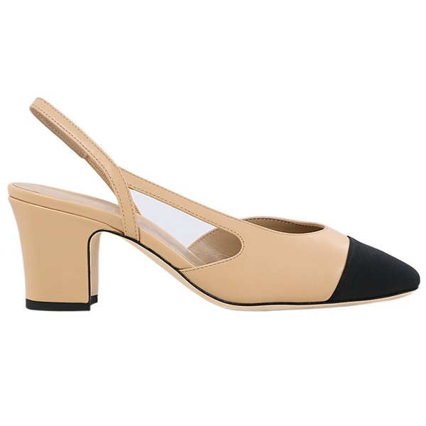 Sandalet üreticileri toptan kaba topuklu küçük kokulu yüksek topuklu bayan ayakkabıları 2019 yeni küçük kokulu tek ayakkabı