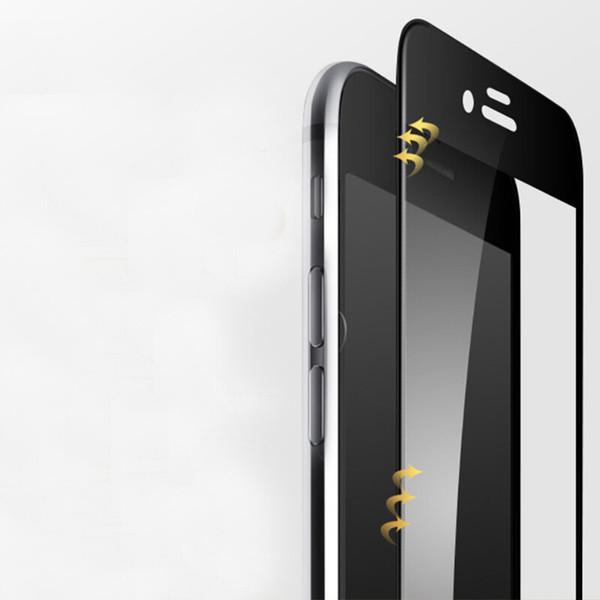 3d curvo fibra de carbono de vidro temperado para iphone 8 7 6 6 s plus x xs max xr hd protetor de tela do telefone móvel protetor de filme x7
