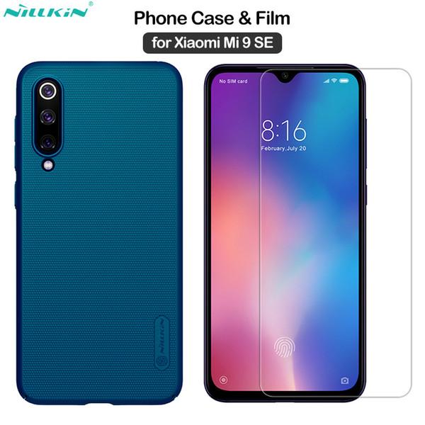 vendita all'ingrosso per Xiaomi Mi 9 SE Cover glassata per PC Shield + Incredibile vetro temperato H per Xiaomi Mi 9SE Case Film Mi9 SE 5.97 ''