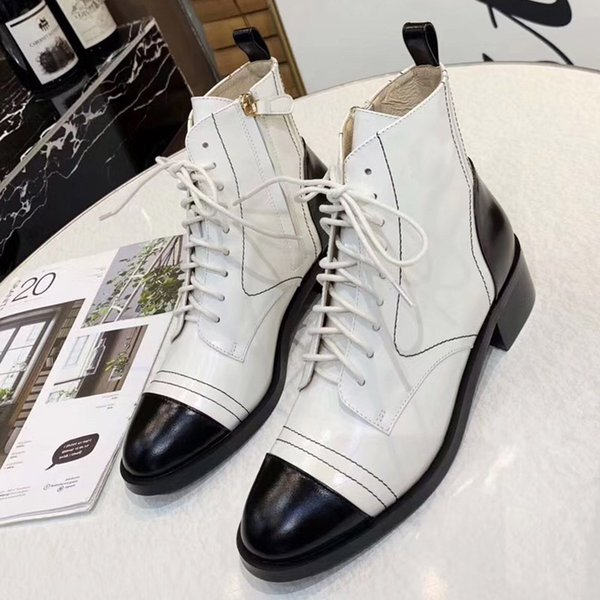 new fashion brand high quality leather and heavy-duty soles comfortable breathable leisure lady Ma Ding35-40