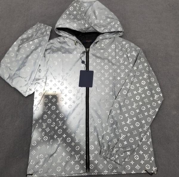 2020 New Hot des femmes des hommes réfléchissant coupe-vent manteau à manches longues Mode Casual Blouse Courir haute qualité en gros coupe-vent B101569Q