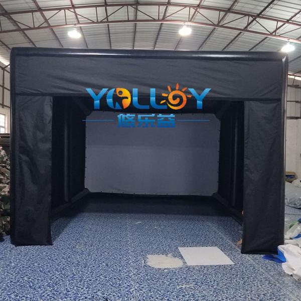 Tienda de golf inflable Simulador de golf inflable que construye 4.6x5.25x2.8m