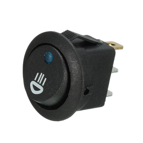 5PCS Car Van Dash Round 12V 20A Illuminated LED Fog Light Rocker Switch On//Off