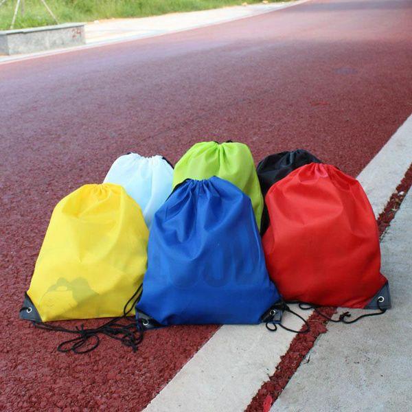 Оптовые детские сплошной цвет Drawstring сумка мальчики девочки одежда обувь сумка Школа Frozen Sport Тренажерный Зал PE Dance Рюкзаки DHL бесплатная доставка
