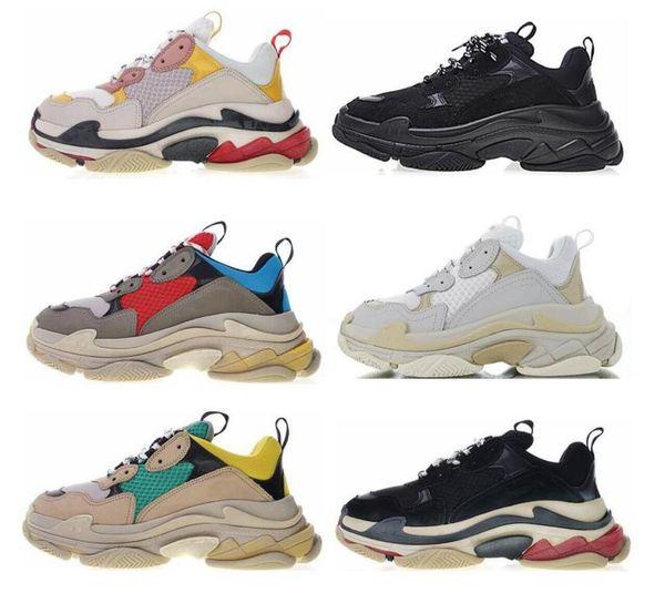 2019 Boyutu 36-45 leisurquality Moda bayan Sneaker Casual Tasarımcı Baba Ayakkabı Erkek Kadın Bej Siyah Spor Eğitmenler Zapatillas 36-45