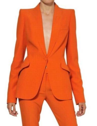 Femmes Pantalons Costumes Dames Custom Made Formelle Bureau D'affaires Tuxedo Veste + Pantalon Costumes Femme Uniforme De Bureau