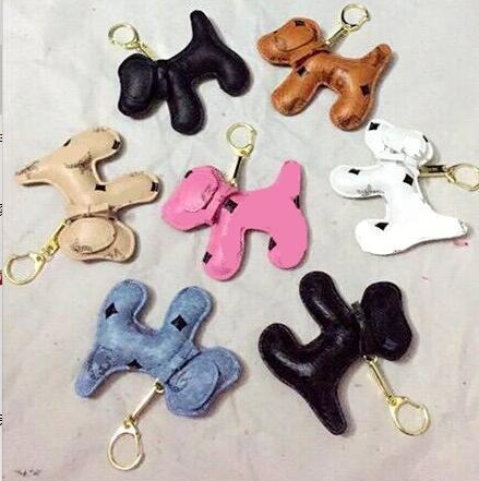 Nouveau Charms Porte-clés De Mode Chaîne De Sac À Dos Pendentif Creative Unisexe Pu Animal Chien sac à dos Porte-clés Cadeau