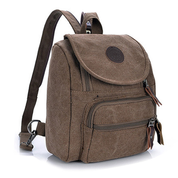 Free Shipping Casual Canvas Women Bag Women Backpack SchoolBag Small Bag Female Shoulder for Teenage lady Student Backpacks