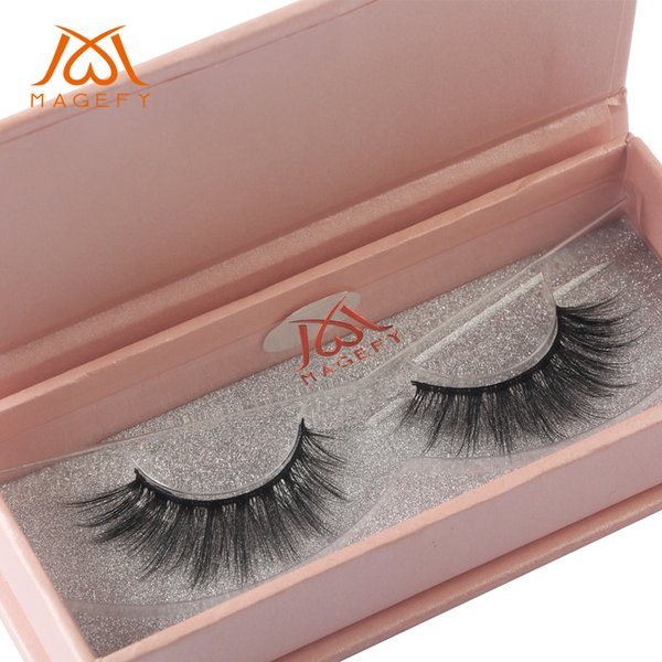 MAGEFY 1 Pair 3D Mink Eyelashes Natural Long Mink Lashes 1 Box False Eyelashes Volume Eyelash Extension Maquiagem Professional