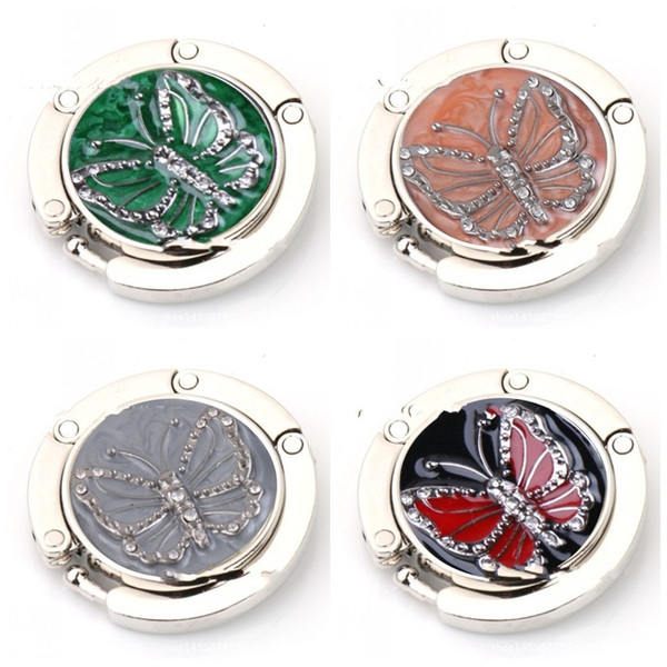 Butterfly Painting Hooks Circular Foldable Agrafe Holder Bag Alloy EDC Agraffe Gray Green Resistance To Fall Portable 5 5yx C1