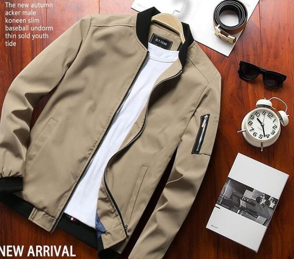 Spring jacket men's winter casual spring and autumn models 2019 Korean version of the trend of wild jacket men's spring clothes#004