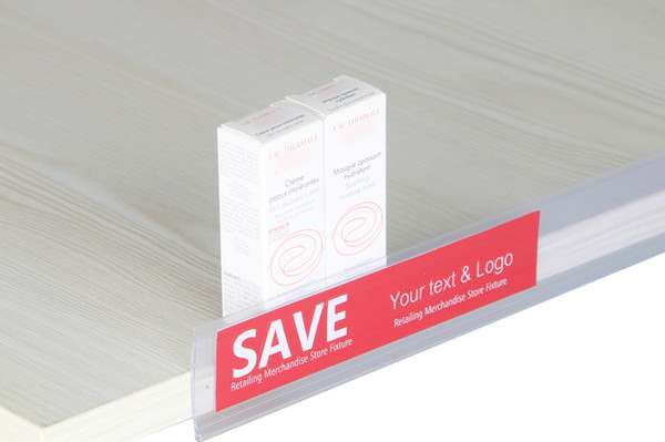 top popular 2.2*20cm Data Strip Label Holder Shelf Edge Scanner Rail Tag Card Sign Frame Promotion Price Talker Self-adhesive Memo Name Card Sign Clip 2021