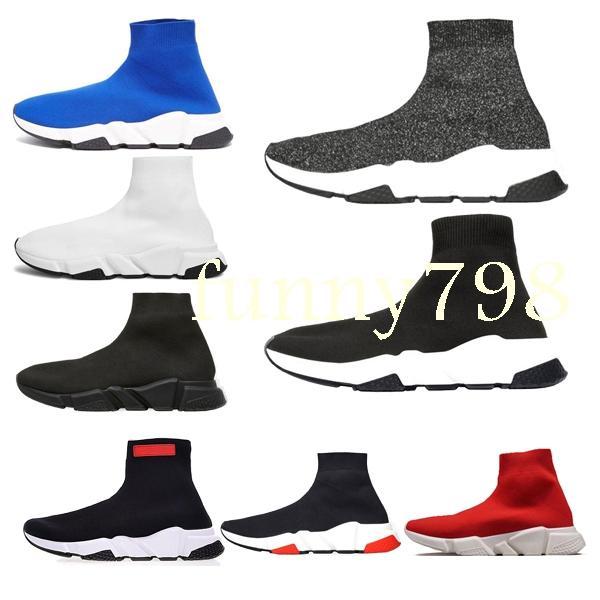2019 high Luxury Designer мода Мужчины Wave Runner Женщины Повседневная кроссовки носки мужские chaussures scarpe zapatos hommes femmes Speed Trainer