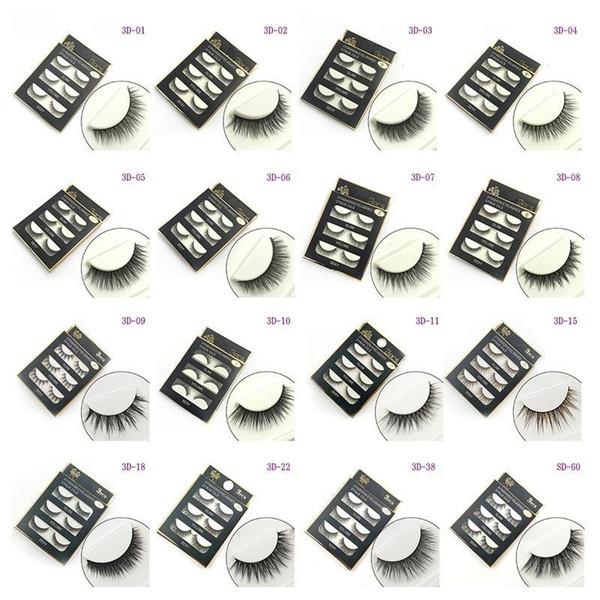 best selling 3D False eyelashes 16 Styles Handmade Beauty Thick Long Soft lashes Fake Eye Lashes Eyelash Sexy 3001078