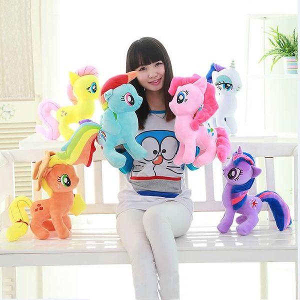 20-40 cm Anime Weiche Einhorn Plüsch Spielzeug Cartoon Unicornio Kawaii Ty Beanie Puppen Spielzeug für Kinder Geschenk Freundschaft ist Magie