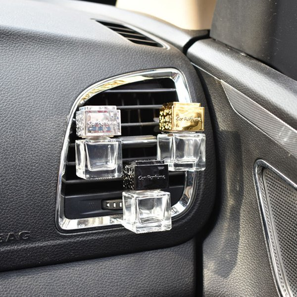 Hot Car Ornament Decoration Perfume Empty Bottle Vents Clip Auto Air Freshener Automobiles Air Conditioner Outlet Fragrance Smell Diffuser